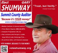 Gary Shumway for Summit County Auditor